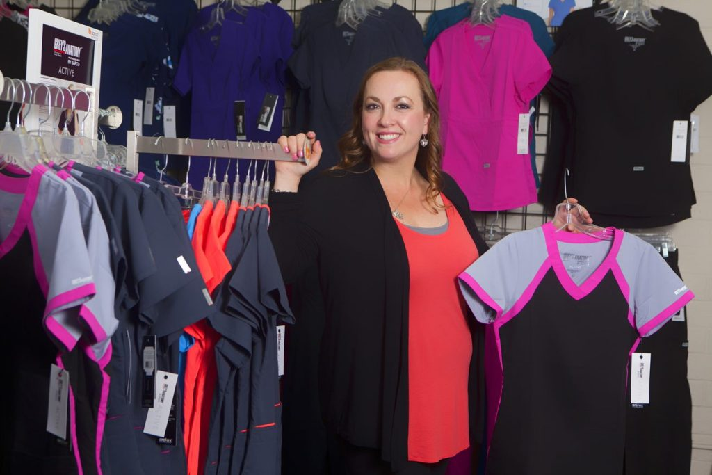 WEV client Reyna Chavez, CEO of Scrubs on the Run